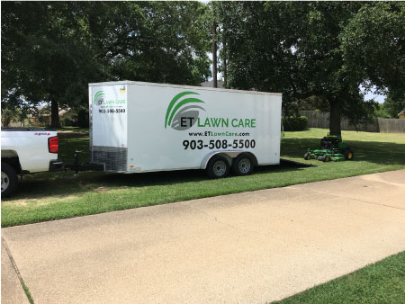 et_lawn_care_trailer_in_Bullard_tx_area