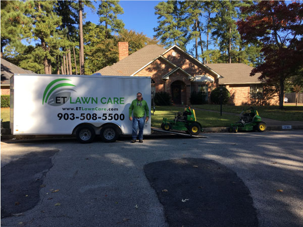 We are doing lawn service in Flint TX.