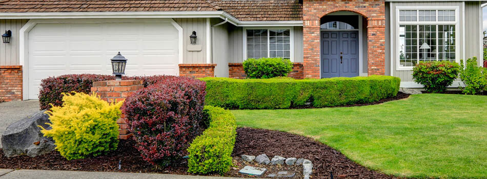 Home with trimmed shrubs and hedges in Tyler, TX.